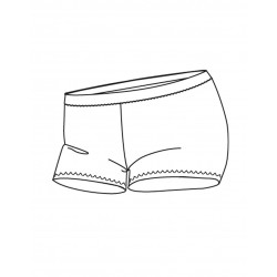 Destockage Short TEMPS DANSE Visu Lemon