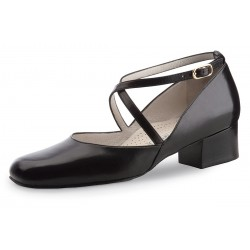 Ladies Dance Shoes Eva 3,4 Nappa black Comfort