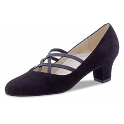 Ladies Dance Shoes Eva 3,4 Nappa black Comfort