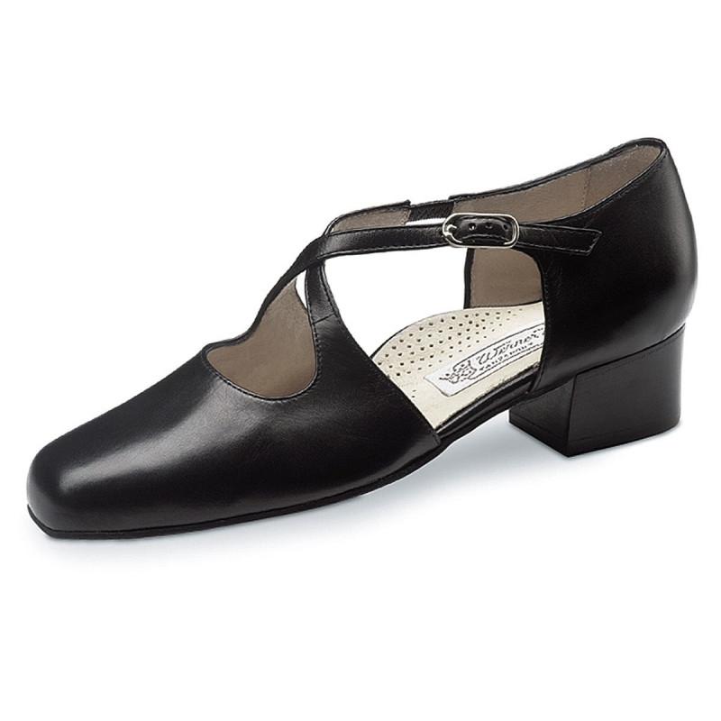 La Boutique Salsa - Ladies Dance Shoes Eva 3,4 Nappa black Comfort