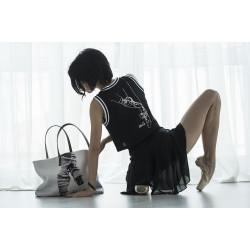 Cropped Mesh Top LikeG - La Boutique Danse