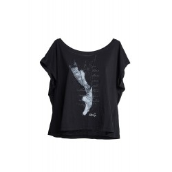 La Boutique Danse - Black Over Size Crop-top Like G