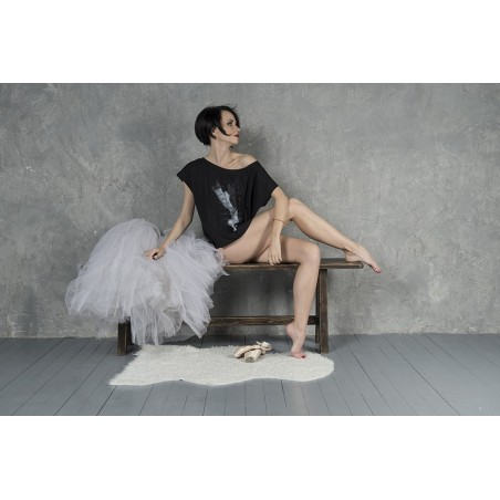 La Boutique Danse - Black Over Size Crop-top Like G