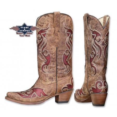 La Boutique Country - Bottes Cuir WBL-22 Femme