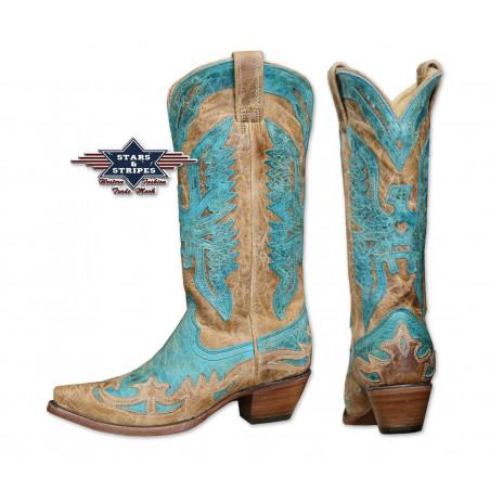 La Boutique Country - Bottes Cuir WBL-11 Femme