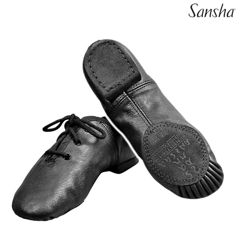 La Boutique Danse - Sansha chaussures de jazz cuir CAROU-SPLIT JS15