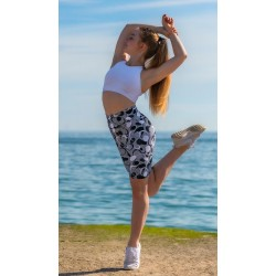 La Boutique Danse - Milena Grey Bike Pants Basilica Dancewear