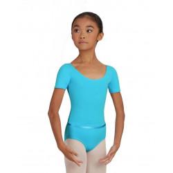 SCOOP NECK SHORT SLEEVE LEOTARD - CHILD CAD400C - La Boutique Danse