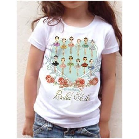La Boutique Danse - T-Shirt Ballet Etoiles Enfant
