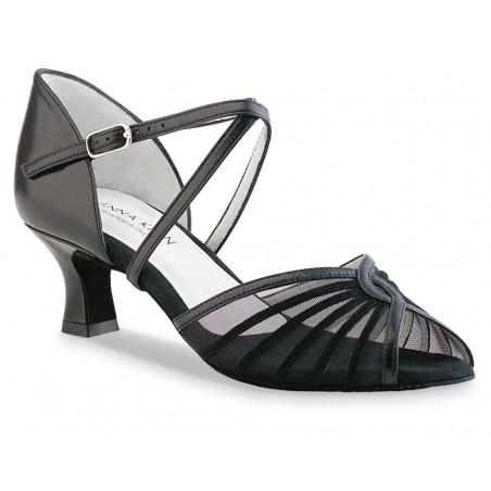 La Boutique Danse - Anna Kern Ladies' Black Nappa Latin Sandals 624-50